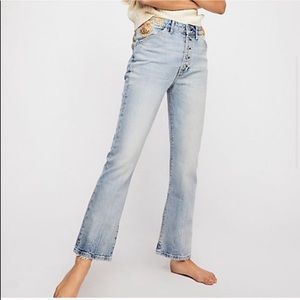 We The Free Novelty Embellished High Waisted Jeans